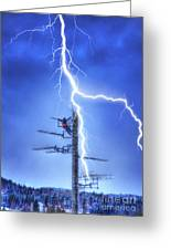 Electric Shock Greeting Card