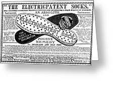 Electric Socks, 1884 Greeting Card