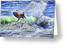 Electric Splash Greeting Card