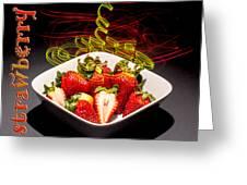 Electric Strawberry IIi Greeting Card