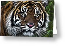 Electric Tiger Greeting Card