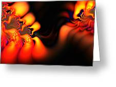 Electric Wave Greeting Card by Ian Mitchell