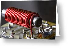 Electrical Coil With Iron Core Greeting Card