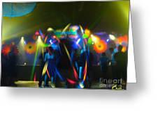 Electronic Dance Trance Greeting Card