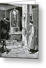 Electroplating The Dead, 1891 Greeting Card