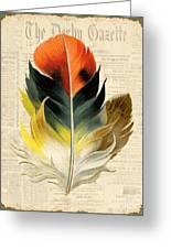 Elegant Feather-c Greeting Card