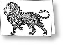 Elegant Lion Greeting Card