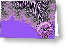 Elegant Tentacles Purple And Lilac Greeting Card