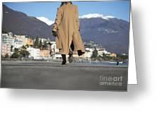 Elegant Woman Walking Greeting Card