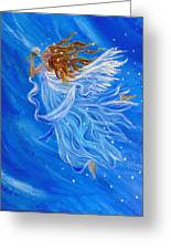 Elemental Earth Angel Of Wind Greeting Card