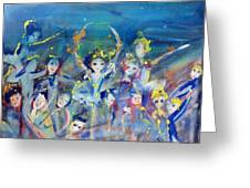 Elementals On The Beach Ballet Greeting Card