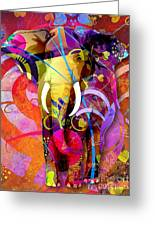 Elephant 007 - Marucii Greeting Card