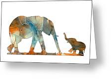 Elephant 01-2 Greeting Card