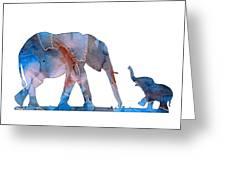 Elephant 01-3 Greeting Card
