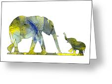 Elephant 01-5 Greeting Card