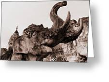 Elephant Architecture Greeting Card