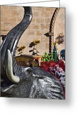 Elephant Celebration Greeting Card by Kathy Clark