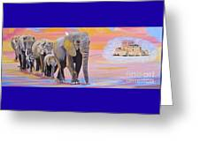 Elephant Fantasy Must Open Greeting Card