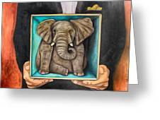 Elephant In A Box Edit 2 Greeting Card