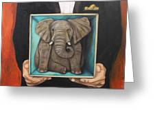 Elephant In A Box Greeting Card