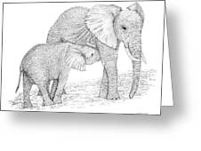 Elephant Mother Greeting Card