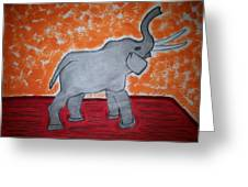 Elephant N Time Out Greeting Card