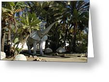 Elephant Show In Marbella Greeting Card