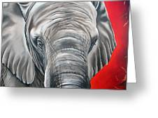 Elephant Six Of Eight Greeting Card