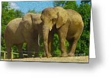 Elephant Snuggle Greeting Card