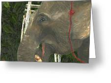 Elephant Under His Thumb Greeting Card