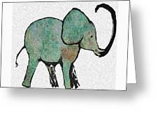 Elephant Water Color Greeting Card
