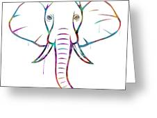 Elephant Watercolors - White Background Greeting Card