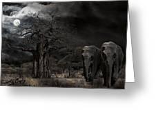 Elephants Of The Serengeti Greeting Card