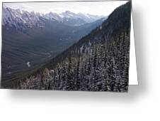 Elevated View Down U-shaped Valley Greeting Card