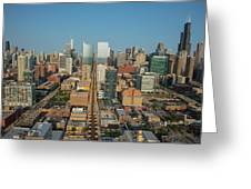 Elevated View Of Cityscape, Lake Street Greeting Card