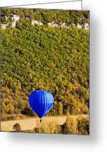 Elevated View Of Hot Air Balloon Greeting Card