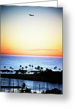 Elevated View Of The Sunset Greeting Card