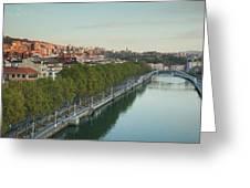 Elevated View Of The Zubizuri Bridge Greeting Card
