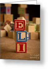 Eli - Alphabet Blocks Greeting Card