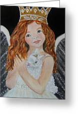 Eliana Little Angel Of Answered Prayers Greeting Card