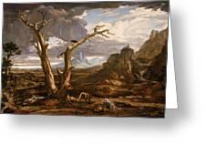 Elijah In The Desert Greeting Card