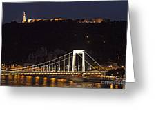Elisabeth Bridge Budapest Greeting Card