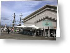 Elizabeth Street Pier Hobart Greeting Card