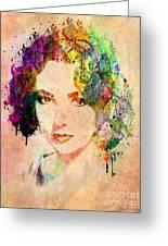 Elizabeth Taylor Greeting Card by Mark Ashkenazi