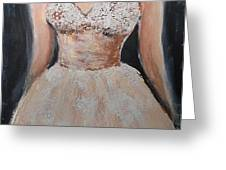 Lacey Dress Greeting Card