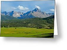 Elk Below Mount Sneffels Greeting Card
