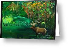 Elk Fall Greeting Card