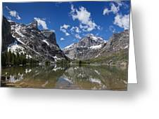 Elk Lake Panorama 1 Greeting Card by Roger Snyder