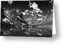 Elk Lake Panorama 3bw Greeting Card