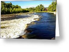 Elk River At Marabou Ranch Greeting Card